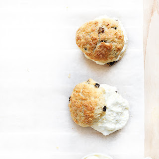 Ginger Currant Scones with Lemon Whipped Cream