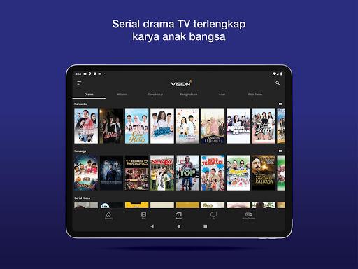 Vision+ : Nonton TV & Film Streaming modavailable screenshots 9