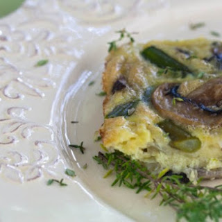 Asparagus, Mushroom And Cheese Crustless Quiche