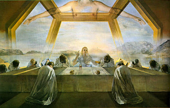 Photo: Title: The Sacrament of the Last Supper Artist: Salvador Dali Medium: Oil on canvas Size: 267 cm × 166.7 cm Date: 1955 Location: National Gallery of Art, Washington, D.C. http://iconsandimagery.blogspot.com/2009/06/title-sacrament-of-last-supper-artist.html