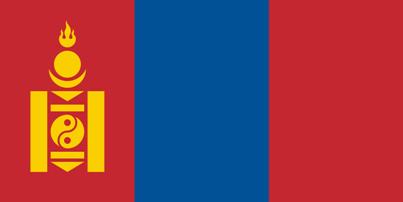 Mongólia Flag