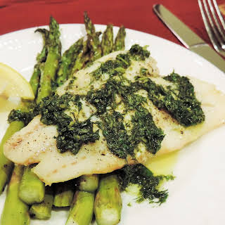 Cod with Herb Pesto.