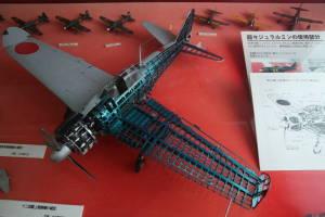 十二試艦上戦闘機の模型=2014年3月【時事通信社】