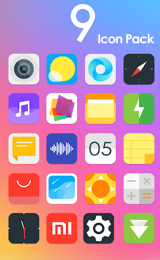 MI UI 9 - Icon Pack Aplicaciones (apk) descarga gratuita para Android/PC/Windows screenshot