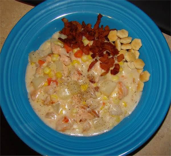 Fresh Corn And Seafood Chowder