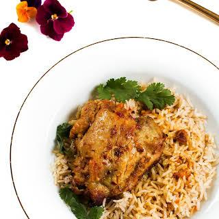 Garlic Curry Yogurt Marinated Chicken.