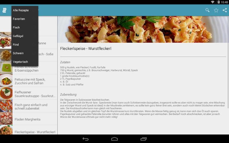 android Einfache & Schnelle Rezepte Screenshot 4