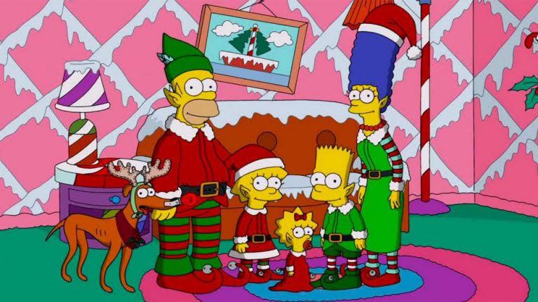 Kerstmis Simpsons