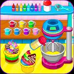 Cooking rainbow cupcakes Icon