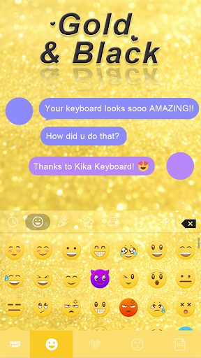 玩免費生活APP|下載Gold & Black Keyboard Theme app不用錢|硬是要APP