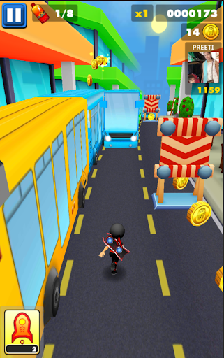 Subway Ninja Run:Surfer in the road Apk 1