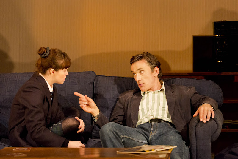 Photo: Claire Foy (Rosie) Ben Miles (Kenneth) Photo by Johan Persson