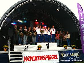 Photo: Podium VR4 Feminin, Coupe du Monde et Championnats d'Europe 2011, Saarlouis, Or et Or