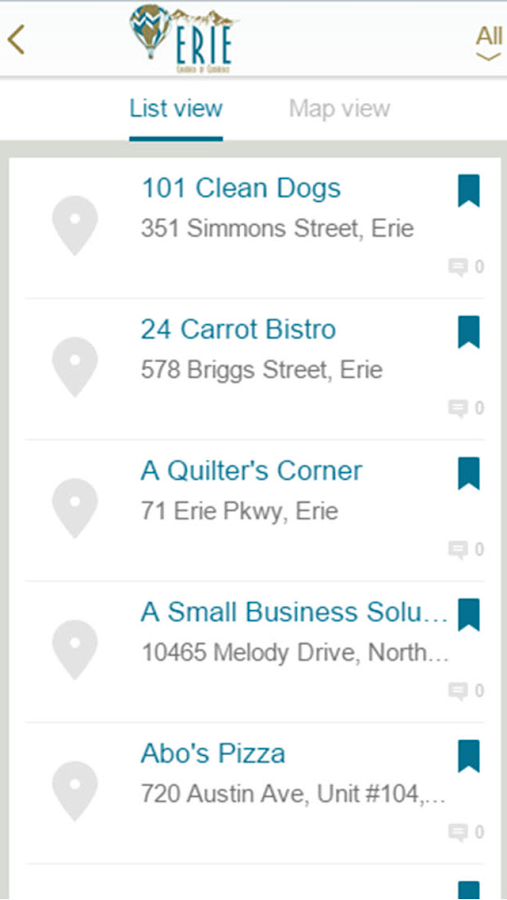Erie Chamber of Commerce- screenshot