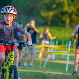 Kids Cyclocross by Bert Templeton - Babies & Children Children Candids ( dallas, racing, race, cyclocross, cycling, texas, kids, irving, bike )