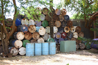 Photo: Year 2 Day 46 - Oil Drums in a Garage