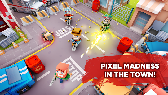 Pixel Arena Online Multiplayer Blocky Shooter 1.20.0 MOD (Unlimited Coins/Crystals) Apk 2