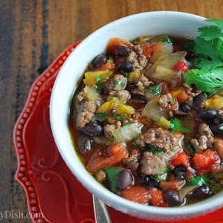 Slow Cooker Lean Beef Black Bean Chili #TheRecipeRedux