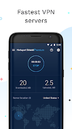 Hotspot Shield Free VPN Proxy & Wi-Fi Security APK screenshot thumbnail 2