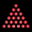 Pascal's triangle icon