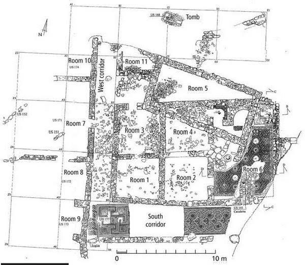 planimetria Villa romana contrada Gerace