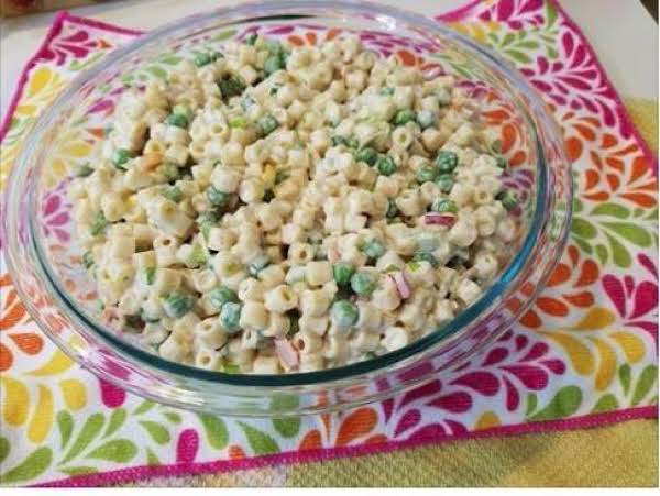 A Pic Of The Best Macaroni Salad
