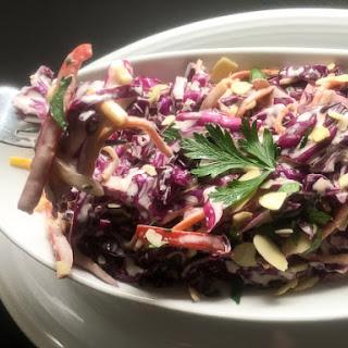 Rainbow Red Cabbage Coleslaw Recipe