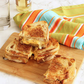 Grilled Cheddar, Brie and Apple Sandwiches.