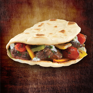 Grilled Lamb and Roasted Vegetable Foldit® Flatbread Sandwich