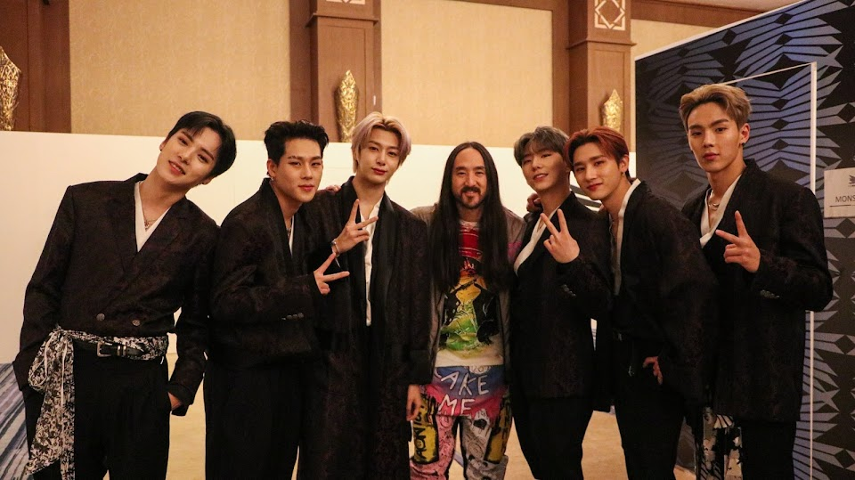 monsta x steve aoki @OfficialMonstaX