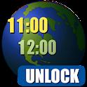 World Clock Widget 2015 Unlock icon