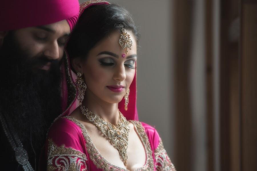 Sikh Bride and Groom  by Par Kang - Wedding Bride & Groom