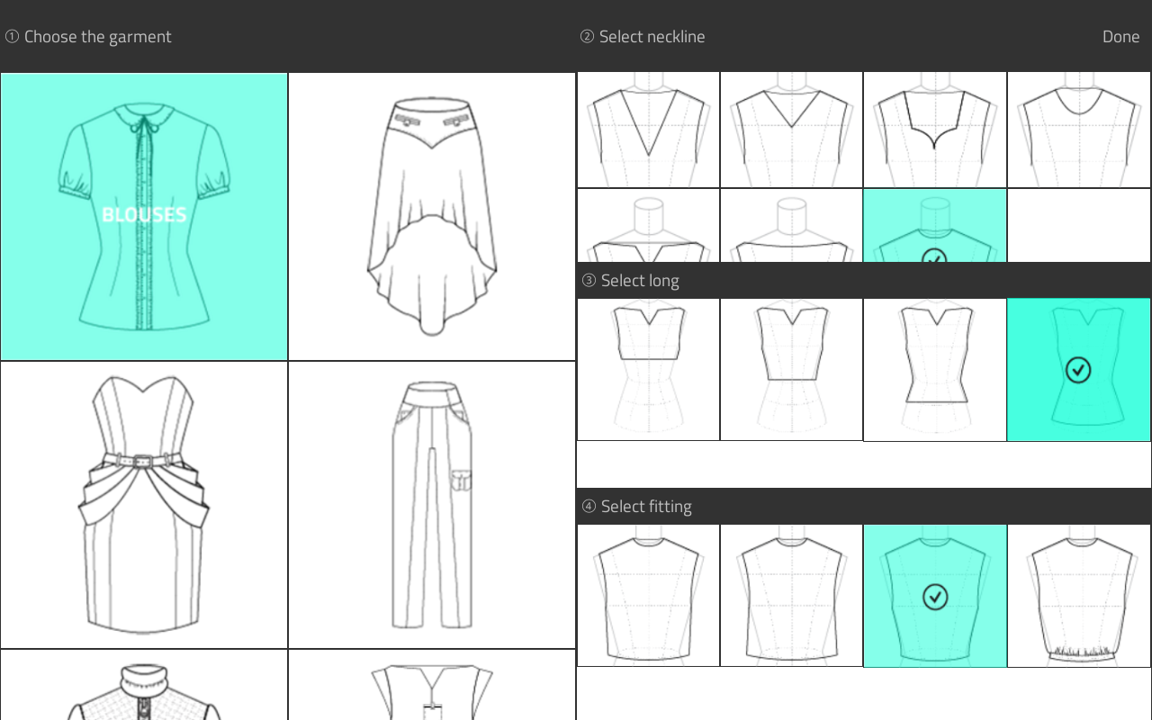 Shirt design sketches - Fashion Design Flat Sketch Screenshot