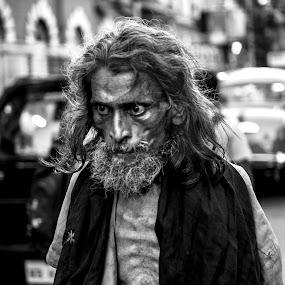 Anger by Shibasish Saha - Novices Only Portraits & People ( portait, canon, face, nikon d5100, black and white, nikon, pwc faces, people,  )