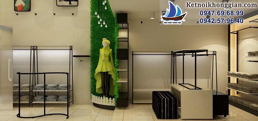 thiết kế shop thời trang nữ với nội thất chắc chắn