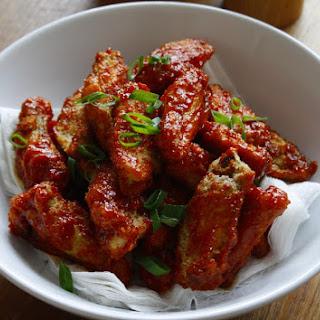 Crispy, sweet and sticky Korean fried chicken