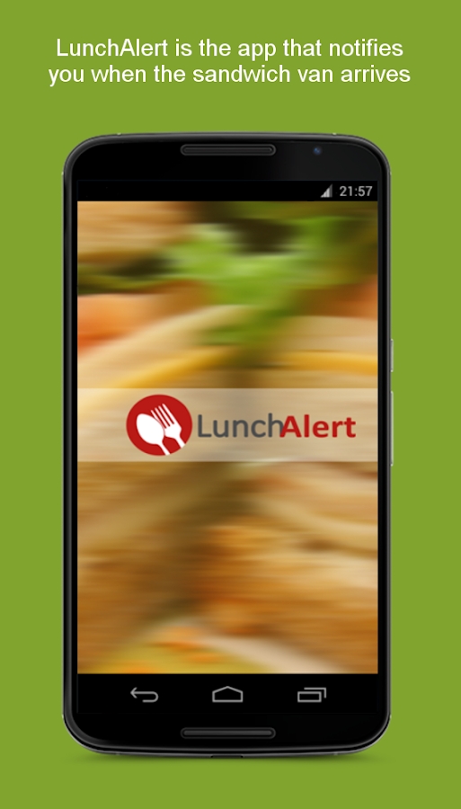 LunchAlert- screenshot