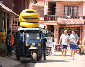 Photo: Day 303 -  Tuk Tuk With a Load Ready To Go Tubing