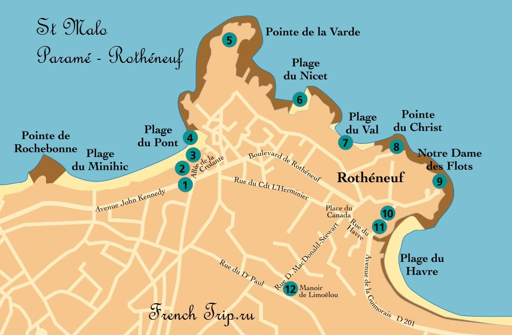 Сен-Мало: Маршрут Paramé - Rothéneuf
