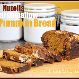Nutella Marshmallow Pumpkin Bread.