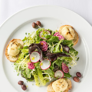 Salad of Mixed Baby Greens and Beltane Farm Goat Cheese