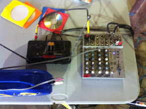 Photo: PA system sound board and wireless mic