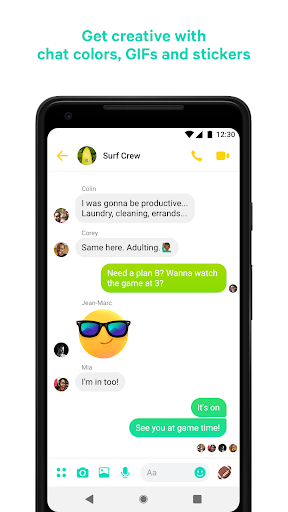 Messenger – Text and Video Chat for Free - screenshot