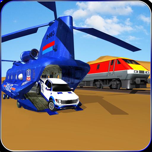 Drive Train Simulator: Police Car Transporter 3D