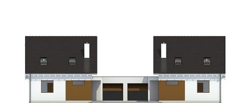 Głuszec z garażem 1-st. bliźniak A-BL1 - Elewacja przednia