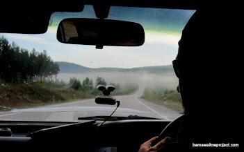Photo: Fog over the bridge ahead