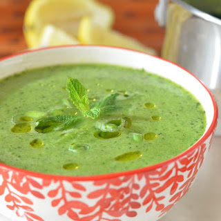 Fresh Pea Soup with Mint and Herbs