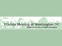 text Friends Meetings of Washington - Religious Society of Friends (Quakers) with neighborhood background