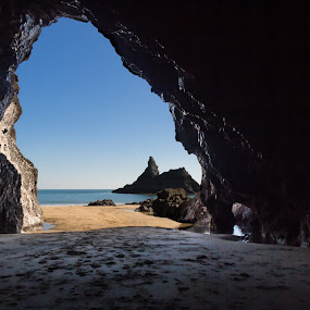 In the cave by Brian Miller - Landscapes Caves & Formations ( sea, rock, seascape, beach, cave )
