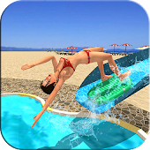 Water Slide Uphill Adventure : Real Rush 3D Racing